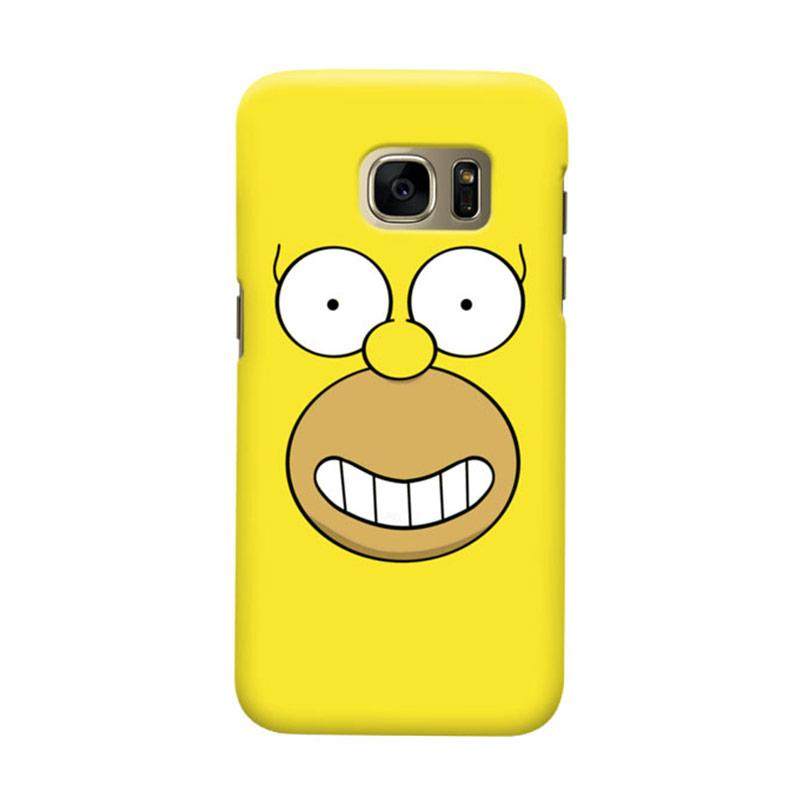 Indocustomcase Hommer Simson Cover Casing for Samsung Galaxy S7