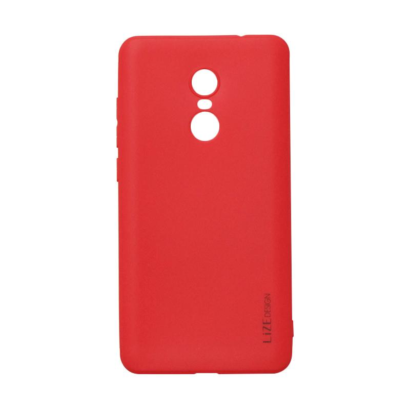 Lize Design Softshell Color Matte Softcase Casing for Xiaomi Redmi Note 4x - Red