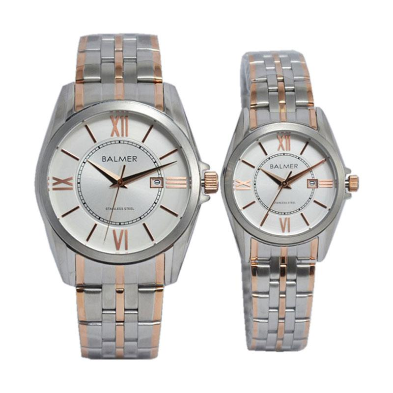 Balmer D34H680BL7920MSLVC Classic Stainless Steel Chain Jam Tangan Couple