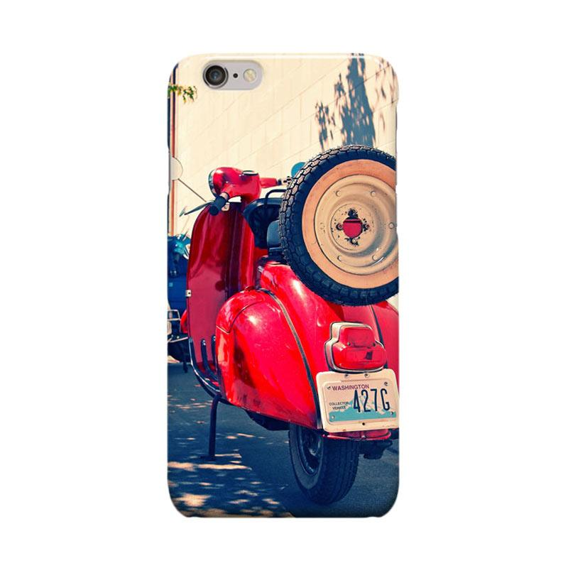 Indocustomcase Vespa Cover Casing for iPhone 6 Plus or 6S Plus - Red