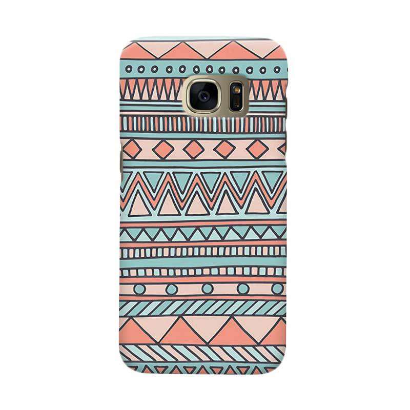 Indocustomcase Tribal Mint Cover Casing for Samsung Galaxy S6