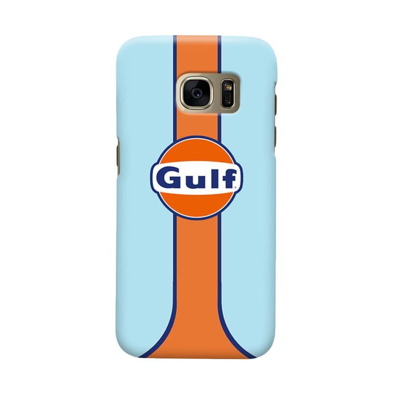 Indocustomcase Gulf Racing Logo Cover Casing for Samsung Galaxy S6