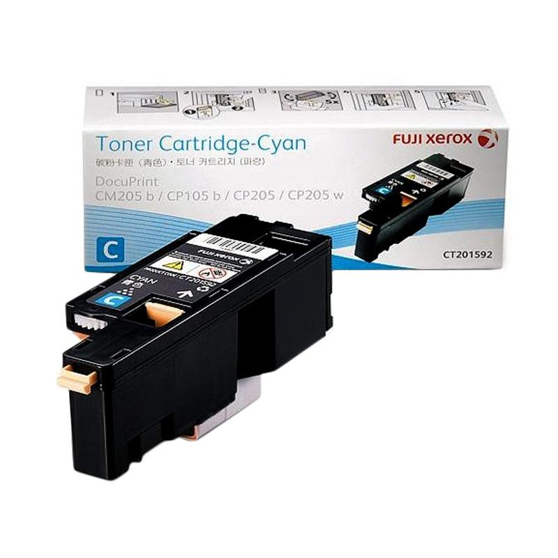 Fuji Xerox CT201592 Toner for Printer Docuprint CP105b-CP215w - Cyan [1400 Halaman]
