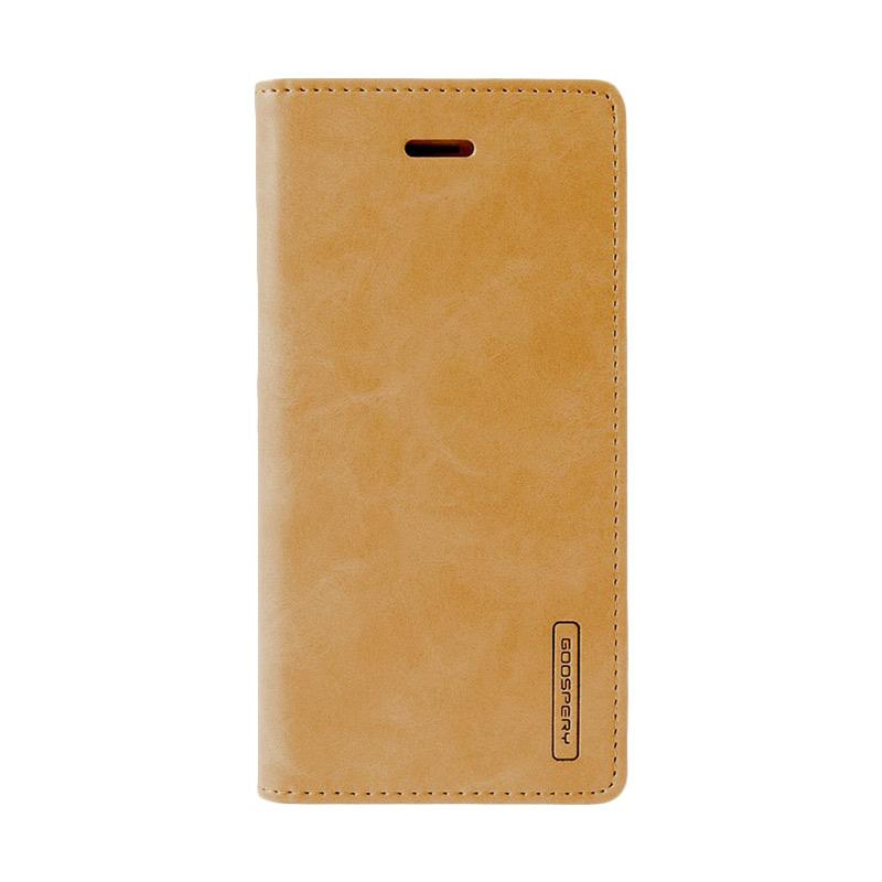 Mercury Goospery Bluemoon Flip Cover Casing for Xiaomi Redmi Note 4 - Gold