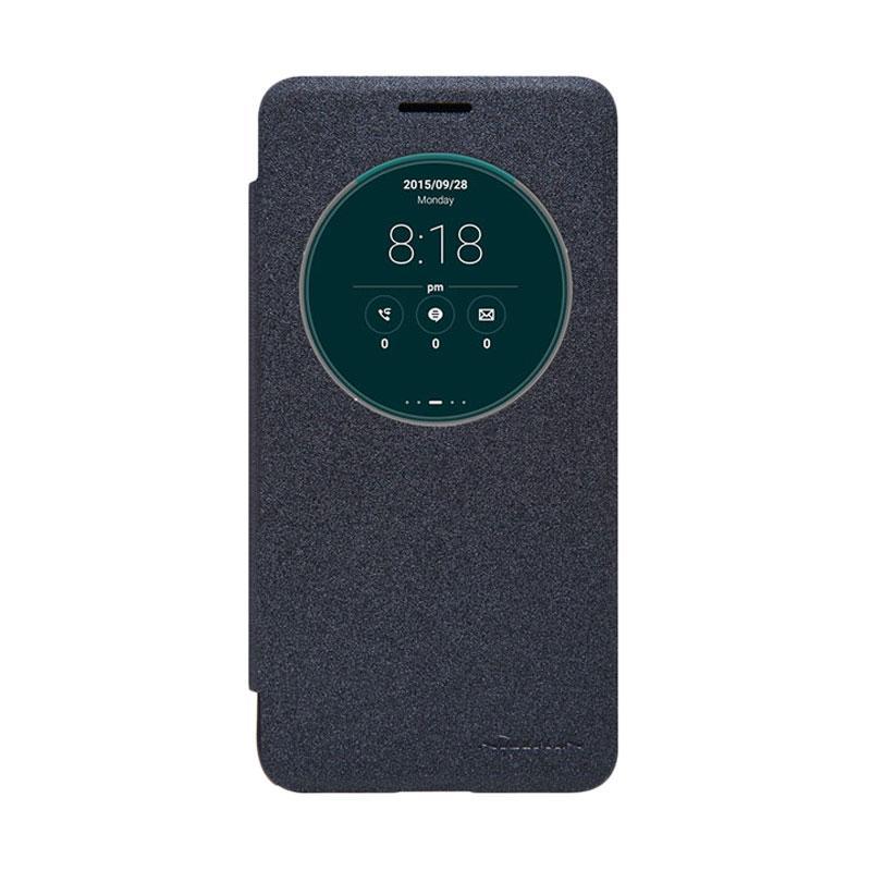 Nillkin Original Sparkle Leather Flip Cover Casing for Asus Zenfone Go - Black