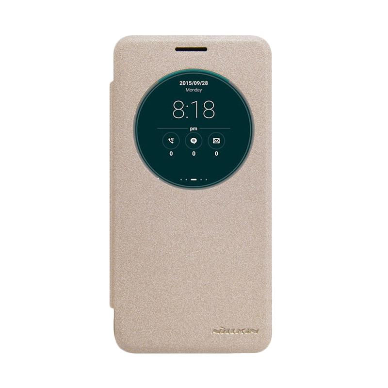 Nillkin Original Sparkle Leather Flip Cover Casing for Asus Zenfone Go - Gold
