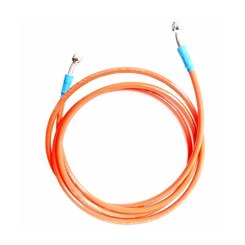 Raja Motor Scarlet Mesh Disc Brake Selang Cakram Motor 105 cm - Orange [SDB8035-Orange]