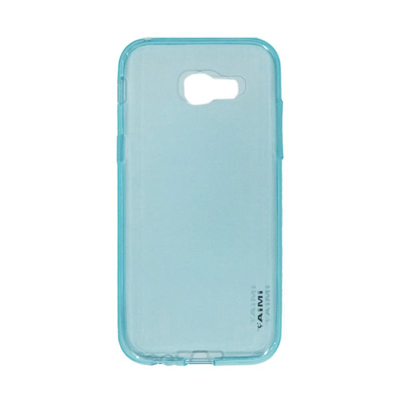 AIMI Ultrathin Silicone Jellycase Softcase Casing for Samsung Galaxy A5 2017 or A520 - Blue