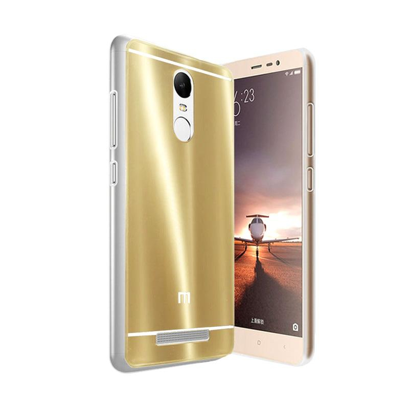 Case Aluminium Bumper Slide Mirror Casing for Xiaomi Redmi Pro - Gold [Best Seller]