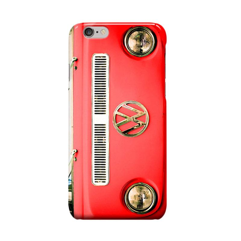 Indocustomcase VW Cover Casing for iPhone 6 Plus or 6S Plus or Red