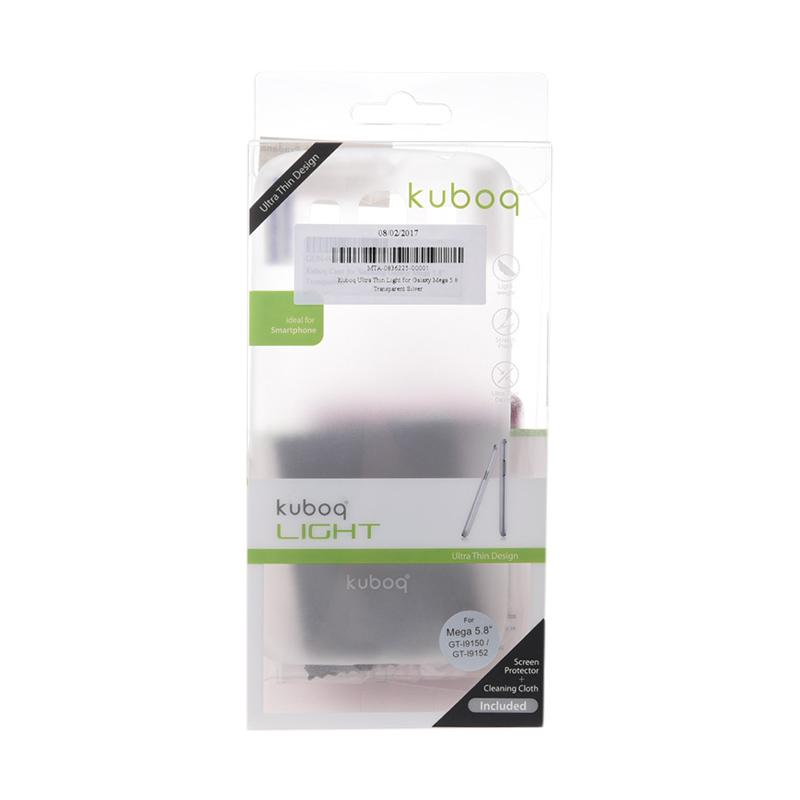 Kuboq Ultra Thin Light Casing for Samsung Galaxy Mega 5.8 - Transparent Silver