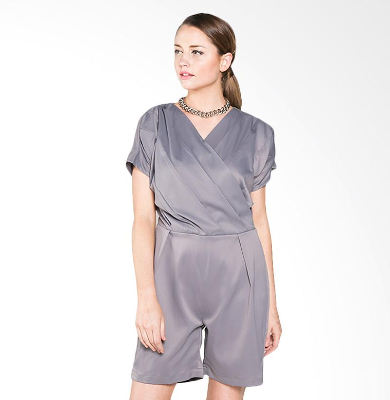 947811e737 Harga House of Ussy Collection Agneta Playsuit Baju - Abu Abu ...