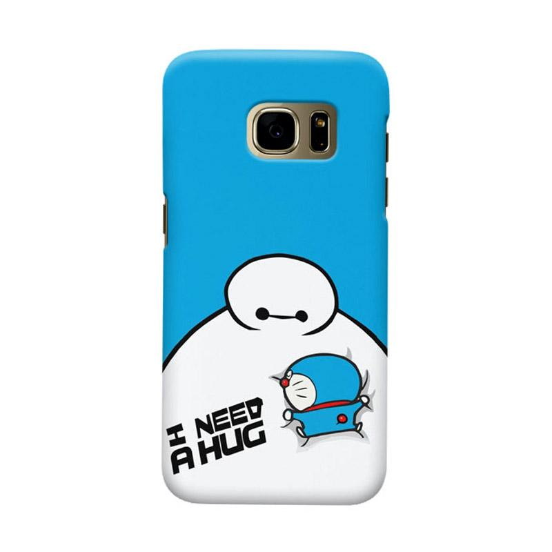 Indocustomcase Doraemon Baymax Cover Casing for Samsung Galaxy S7