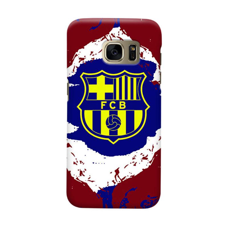 Indocustomcase FC Barcelona FCB11 Cover Casing for Samsung Galaxy S6 Edge