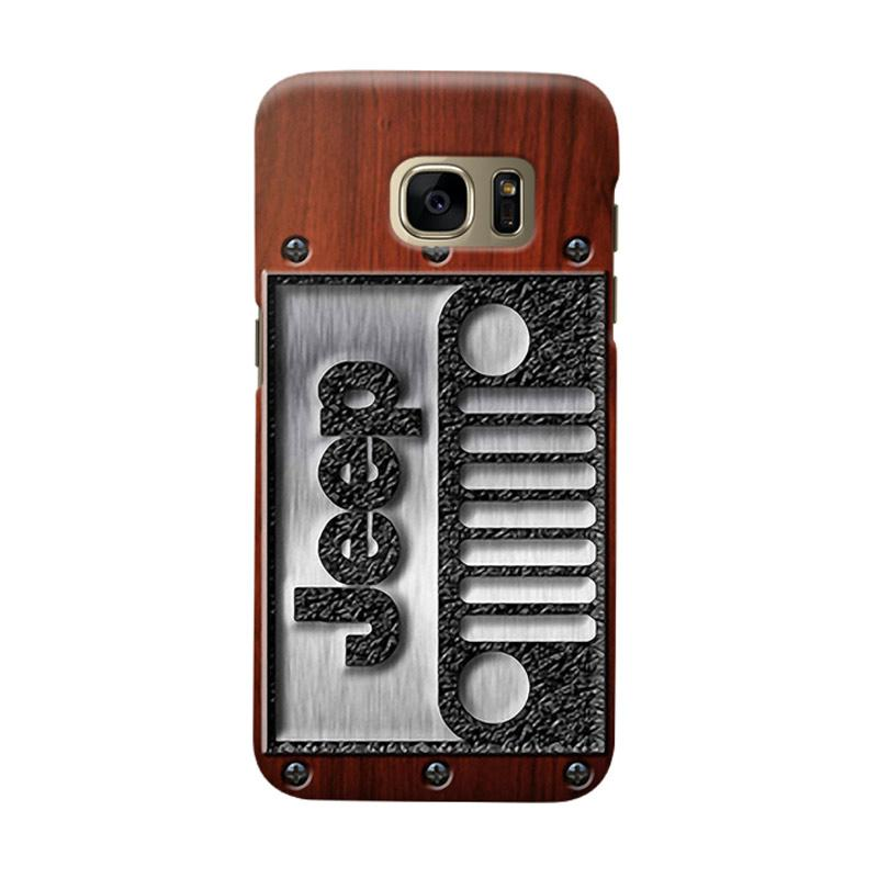 Indocustomcase Jeep On Wood Cover Casing for Samsung Galaxy S6