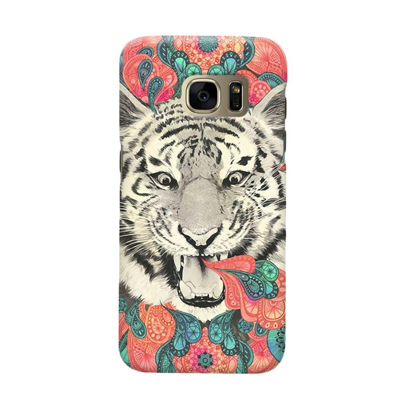 Indocustomcase Tiger Mandala Cover Casing for Samsung Galaxy S6
