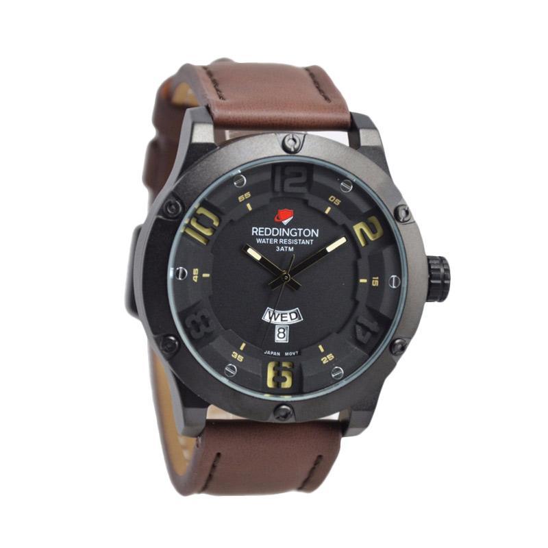 Reddington Warren Buffet D46H160RD3035MCKT Daydate Leather Strap Jam Tangan Pria
