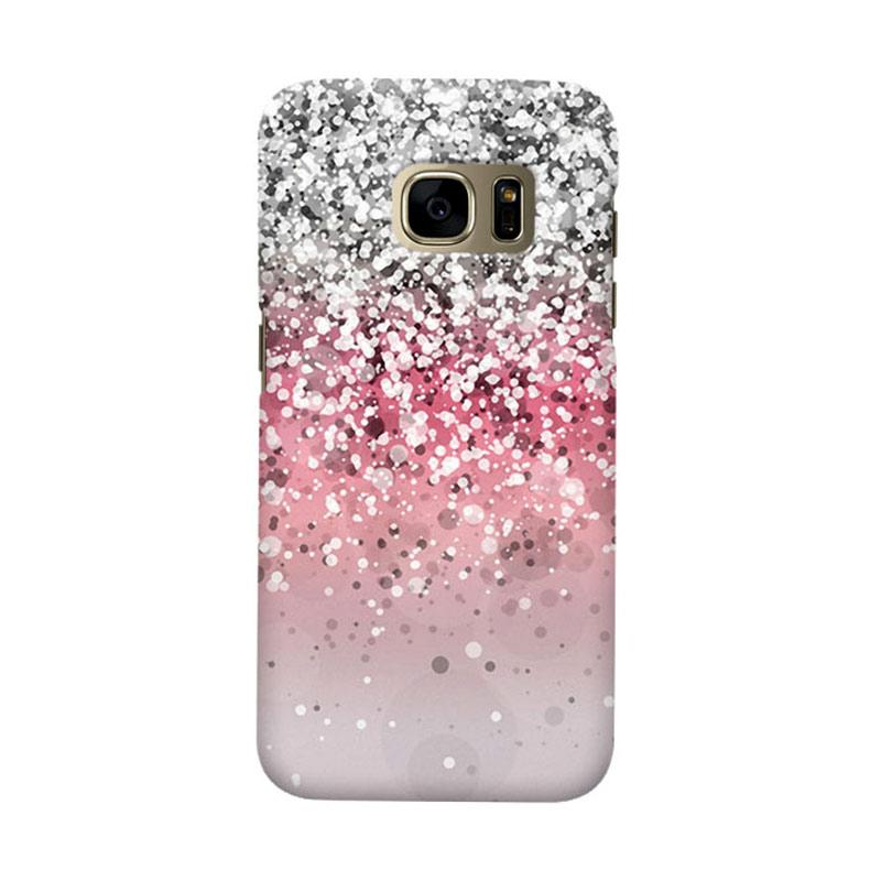 Indocustomcase Glitter 2 Cover Casing for Samsung Galaxy S6 Edge