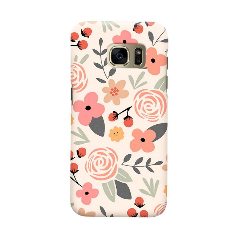Indocustomcase Botanic Cover Casing for Samsung Galaxy S6 Edge