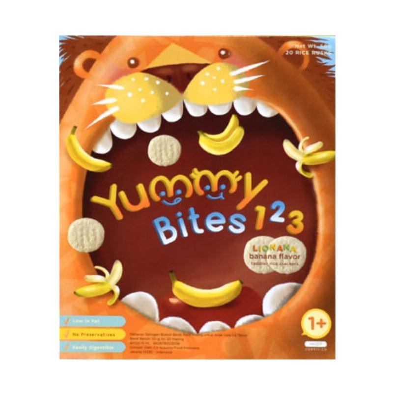 Yummy Bites 123 Lionana Rice Cracker for Toddler [Banana Flavor/12 Bulan keatas]