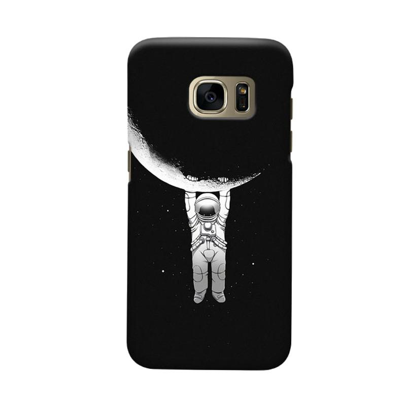 Indocustomcase Astronout Cover Casing for Samsung Galaxy S6 Edge