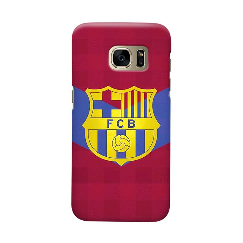 Indocustomcase FC Barcelona FCB13 Cover Casing for Samsung Galaxy S7 Edge