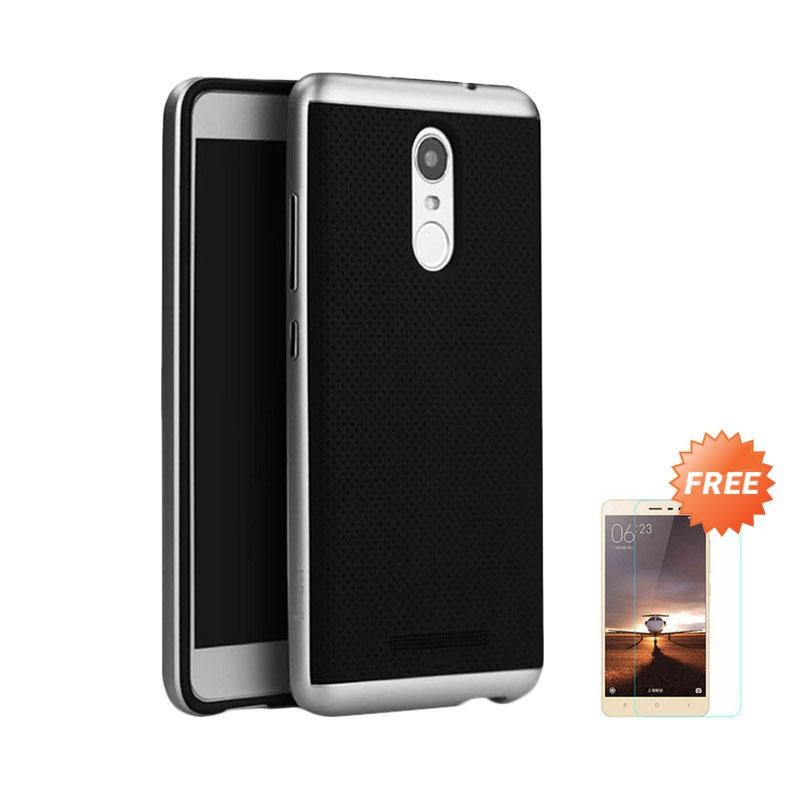ProCase Neo Hybrid Casing for Xiaomi Redmi Note 3 Pro - Silver + Free Tempered Glass