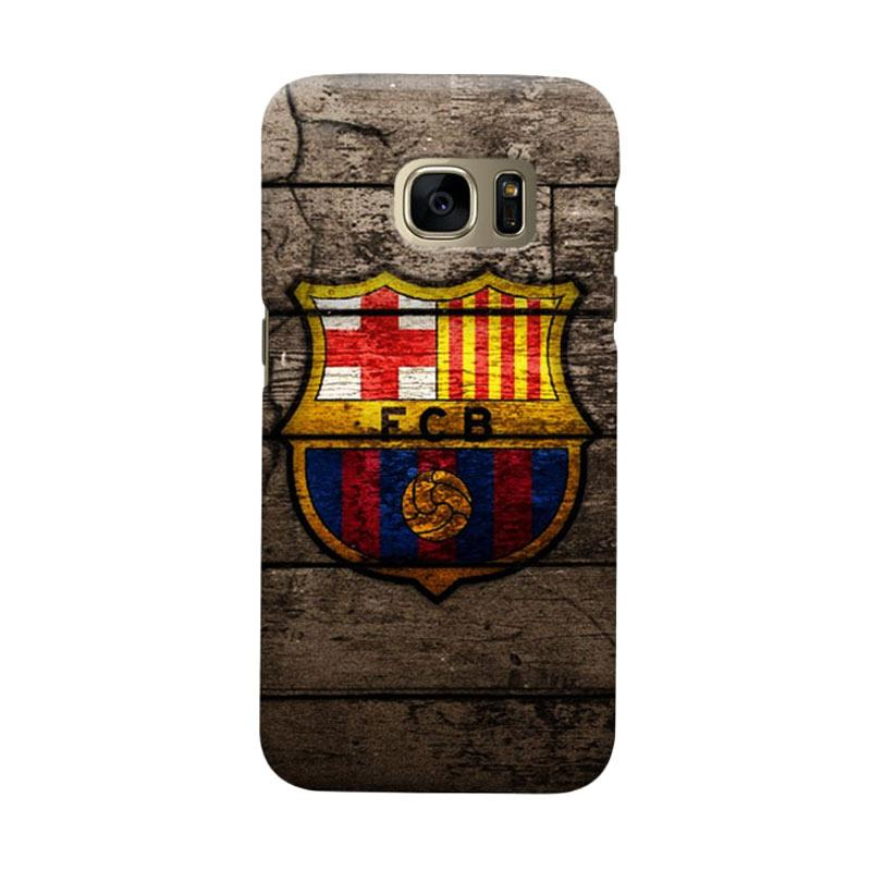 Indocustomcase FC Barcelona FCB14 Cover Casing for Samsung Galaxy S7 Edge