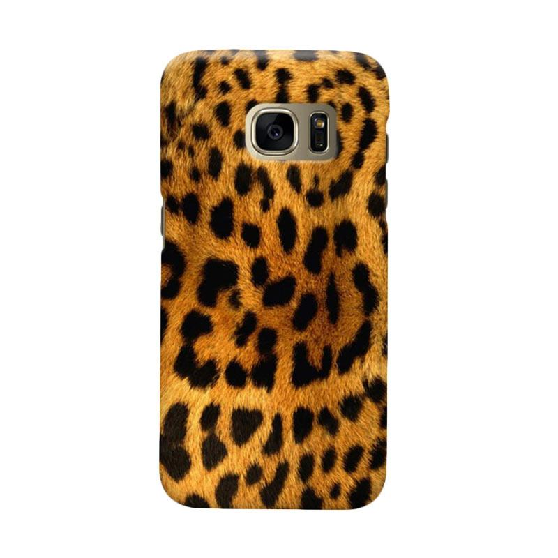 Indocustomcase Leopard Skin Cover Casing for Samsung Galaxy S7 Edge