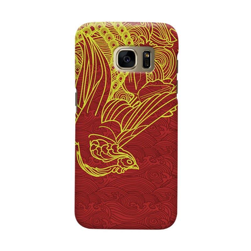 Indocustomcase love Bird Cover Casing for Samsung Galaxy S6 Edge