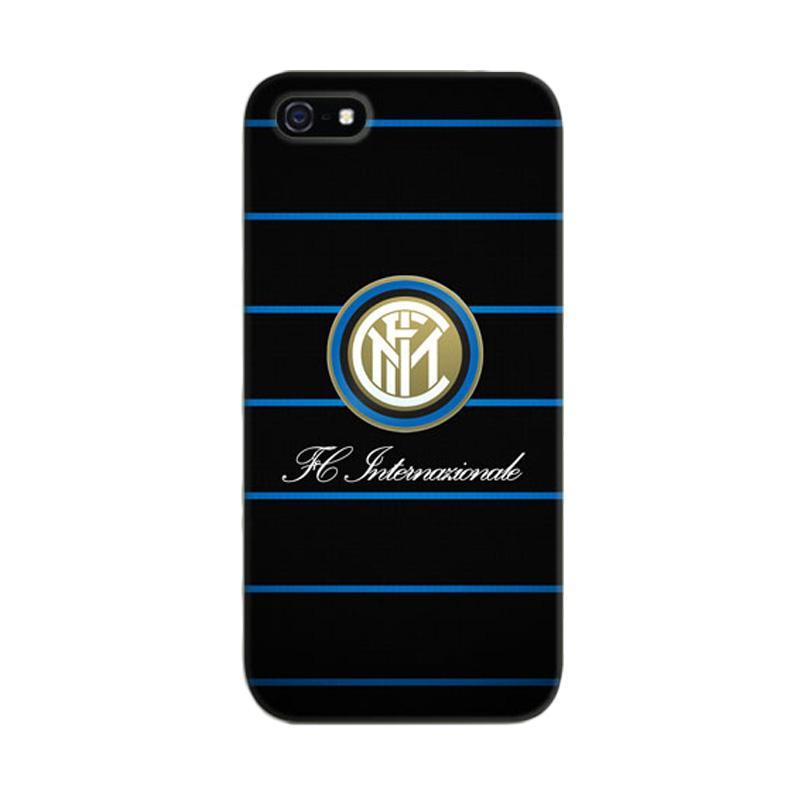 Indocustomcase Inter Milan FC Blue Logo Cover Casing for iPhone 5/5S/SE