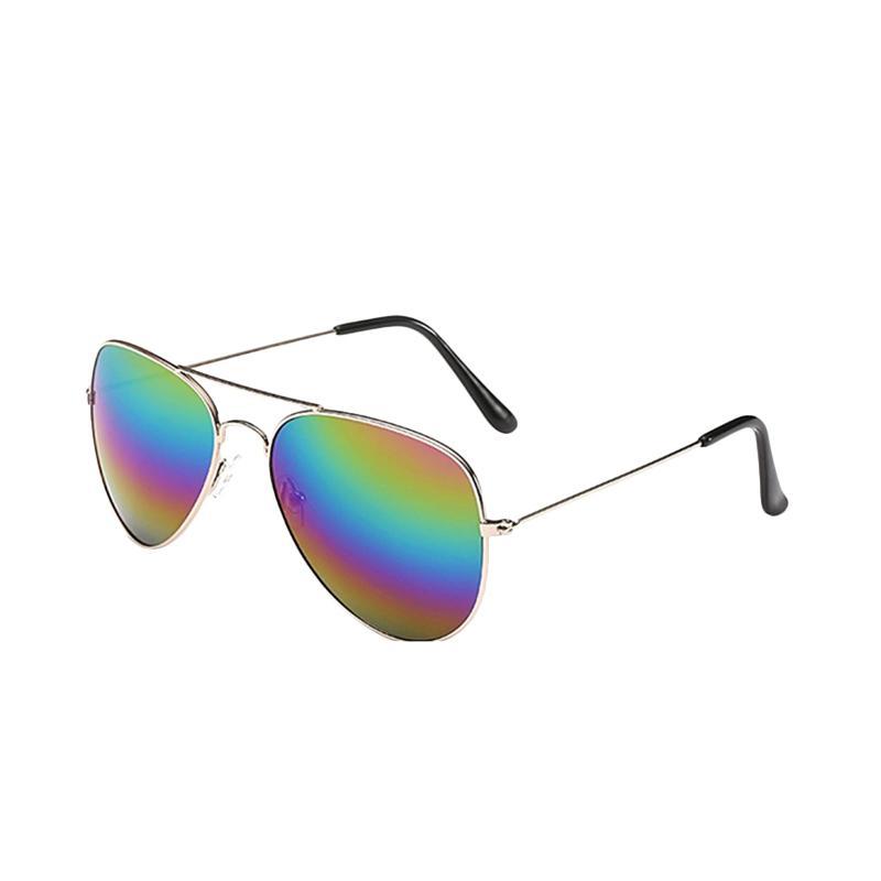 harga Fashion Eyewear Kacamata Fashion Sunglasses Harley Aviator Pilot - Rainbow Blibli.com