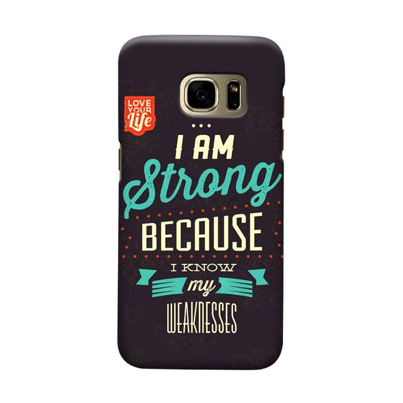Indocustomcase I am StrongLogo Cover Casing for Samsung Galaxy S7