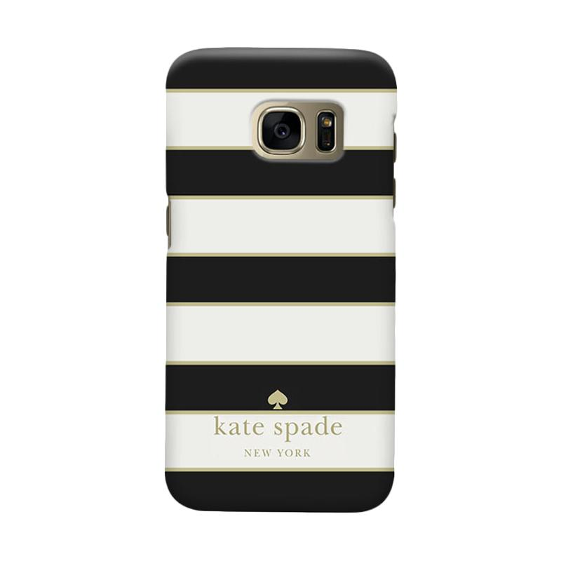 Indocustomcase Kate Spade Black Striped Casing for Samsung Galaxy S6