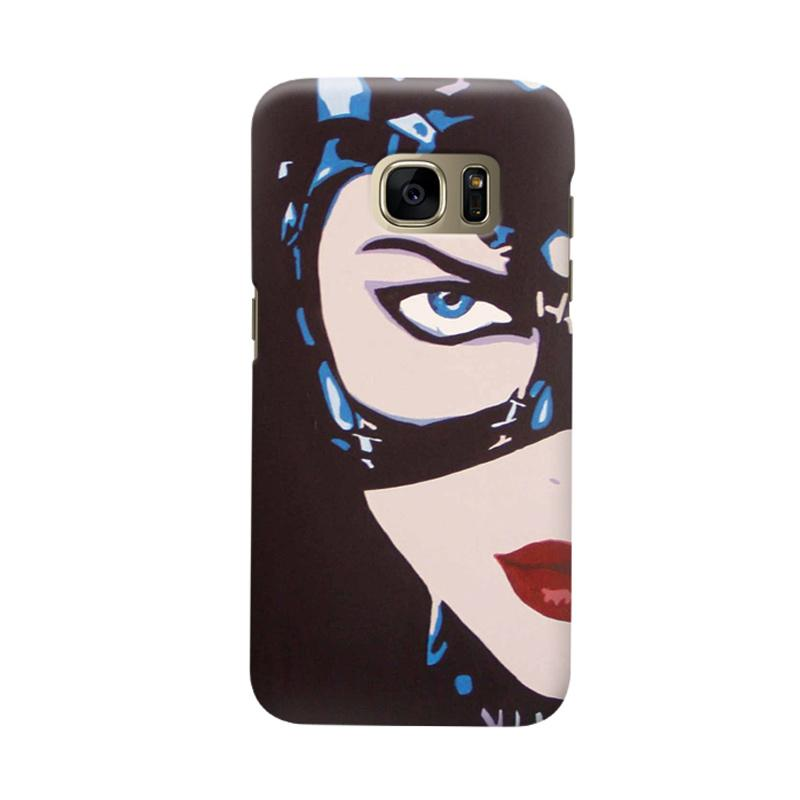 Indocustomcase Cat Woman Cover Casing for Samsung Galaxy S6 Edge