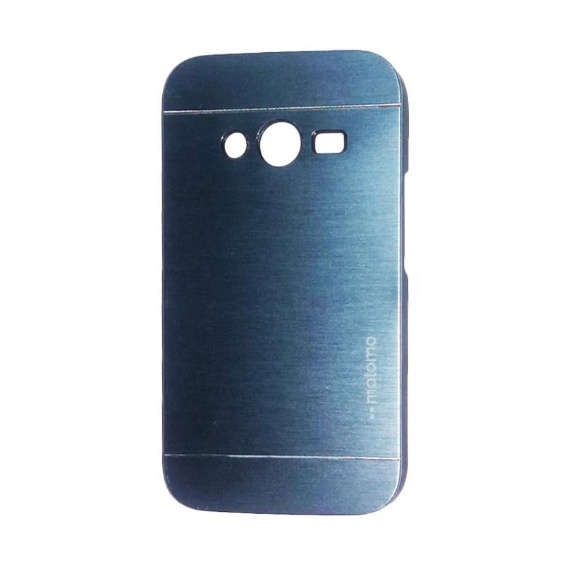 Motomo Metal Hardcase Backcase Casing for Samsung Galaxy Ace 4 or G313 - Dark Blue
