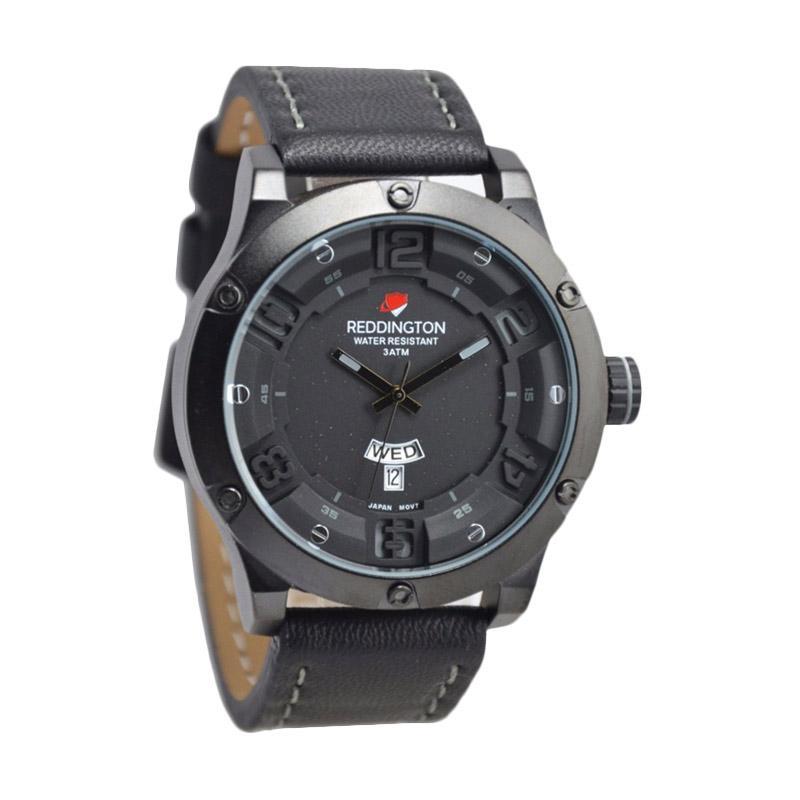 Reddington Warren Buffet D46H160RD3035MHTM Daydate Leather Strap Jam Tangan Pria