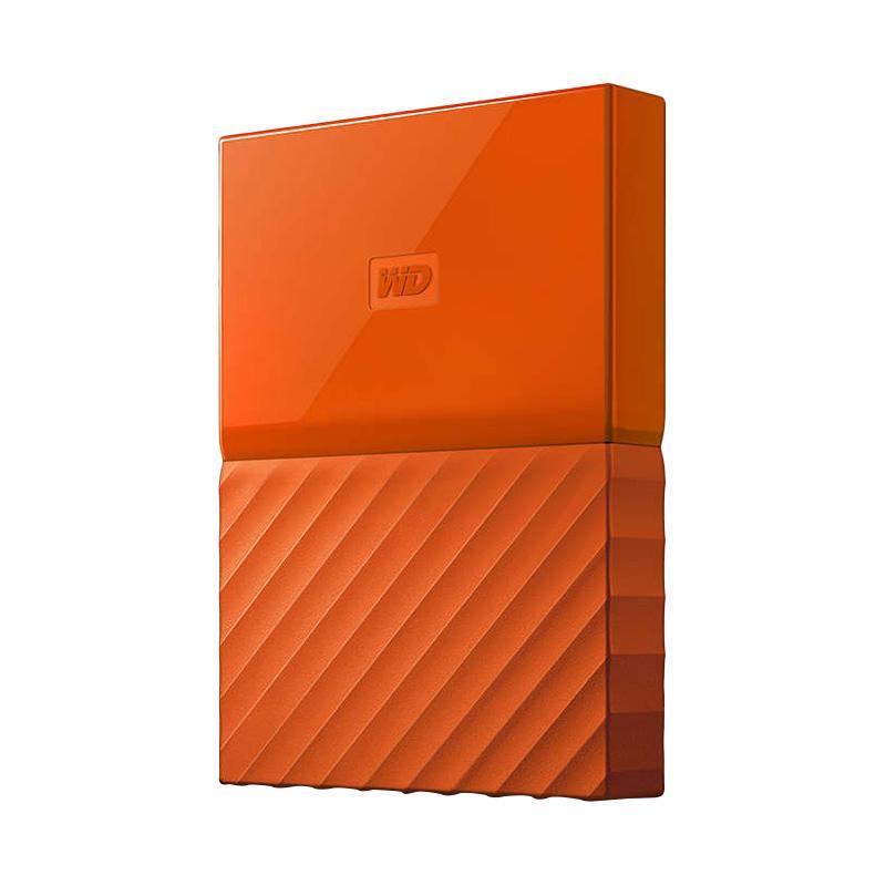 Monday Moms Day - WD My Passport New Design Portable Hard Disk Eksternal - Orange [1 TB/USB 3.0/2.5 Inch] + Free Pouch -