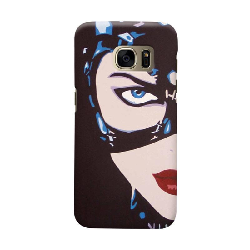 Indocustomcase Cat Woman Cover Casing for Samsung Galaxy S7 Edge