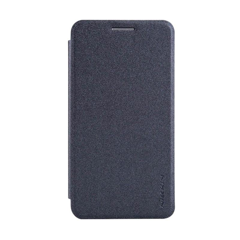 Nillkin Original Sparkle Leather Flip Cover Casing for Samsung Galaxy A3 - Black