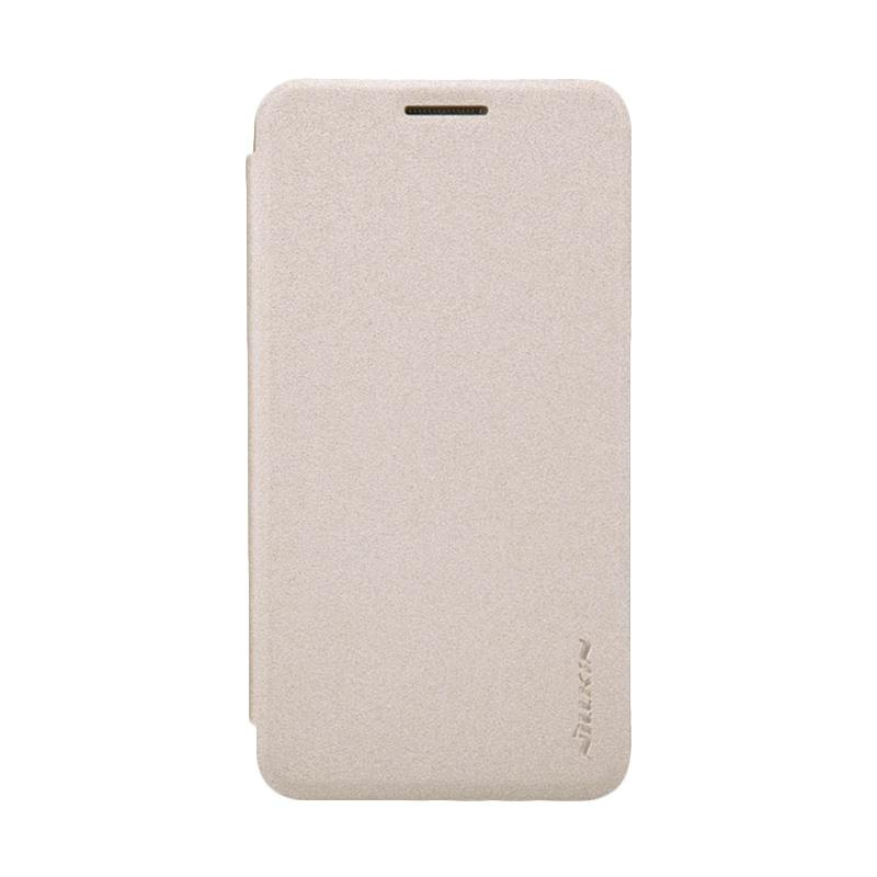 Nillkin Original Sparkle Leather Flip Cover Casing for Samsung Galaxy A3 - Gold