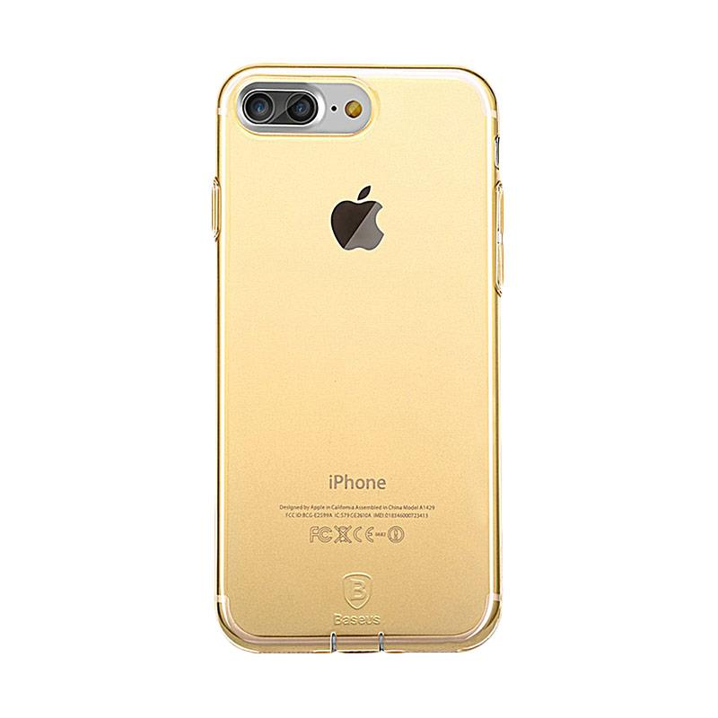 harga Baseus Simple Series With Pluggy Casing for Apple iPhone 7 Plus - Transparent Gold Blibli.com