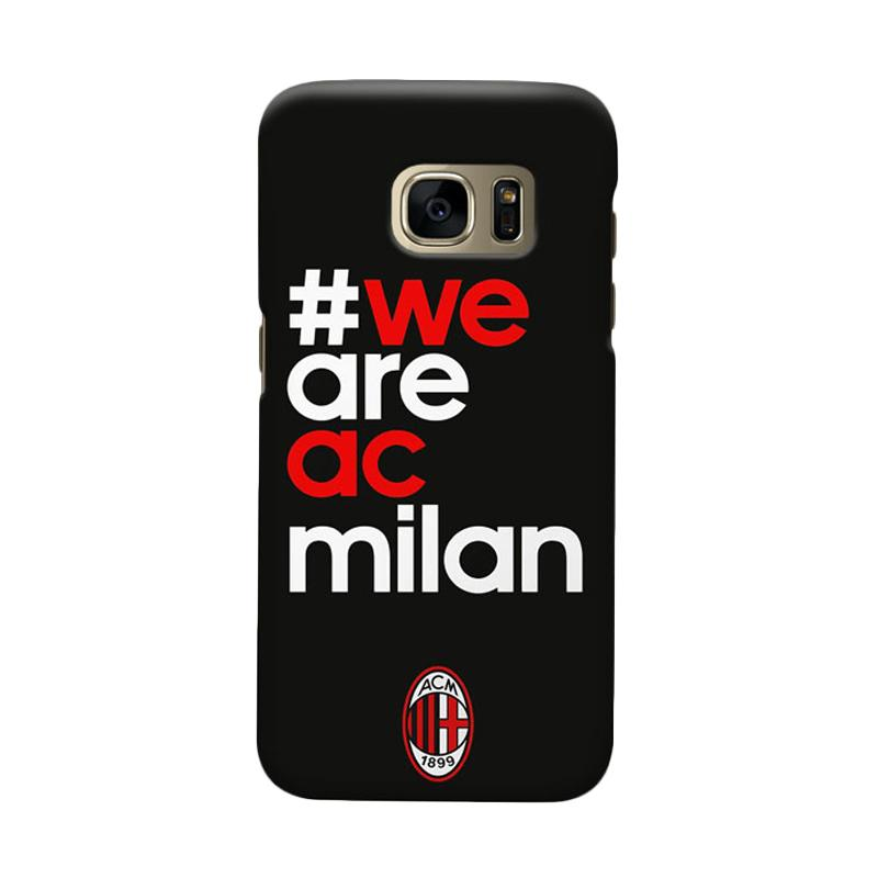 Indocustomcase AC Milan ACM01 Cover Casing for Samsung Galaxy S7 Edge