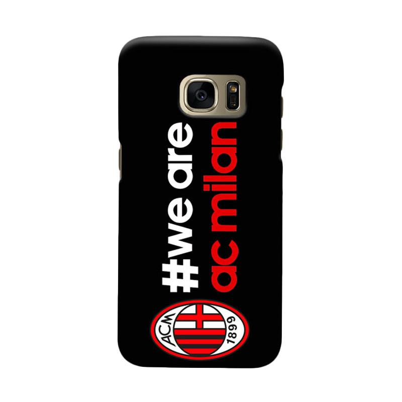 Indocustomcase AC Milan ACM02 Cover Casing for Samsung Galaxy S6 Edge