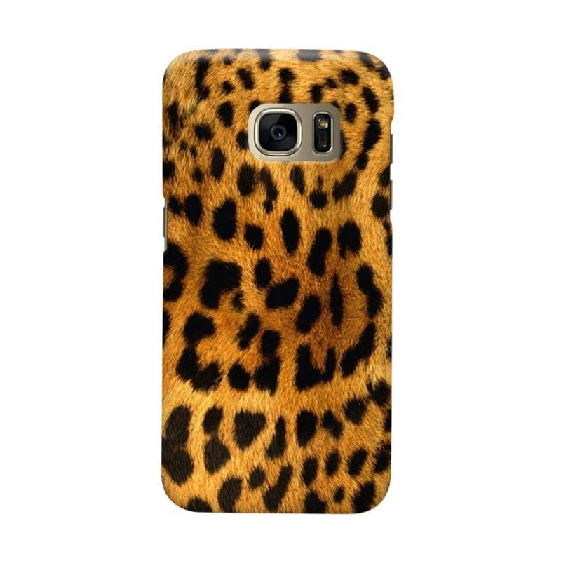 Indocustomcase Leopard Skin Cover Casing for Samsung Galaxy S6