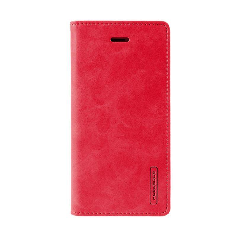 Mercury Goospery Bluemoon Flip Cover Casing for Samsung Galaxy A7 2017 - Merah