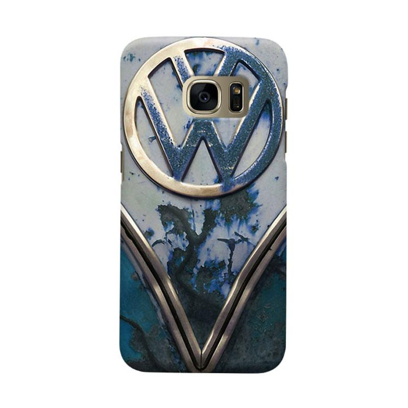 Indocustomcase Blue Rusty Cover Casing for Samsung Galaxy S6