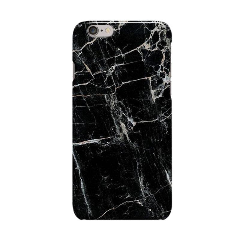 Indocustomcase Cover Casing for iPhone 6 Plus or 6S Plus - Black Marble