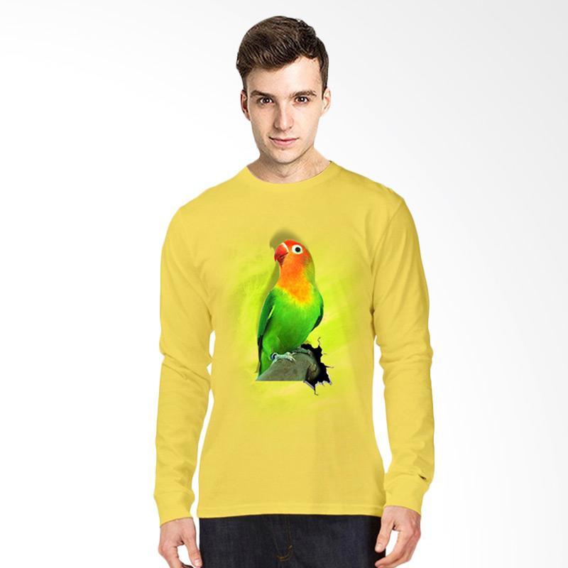 harga T-Shirt Glory Kaos 3D Burung Love Bird Fold Lengan Panjang Pria - Kuning Blibli.com