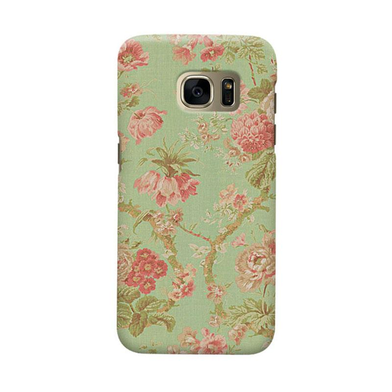 Indocustomcase Vintage Flower Casing for Samsung Galaxy S7 Edge